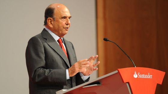 Emilio Botín, presidente ejecutivo de Santander