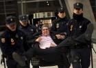Protesta en la sede de Bankia