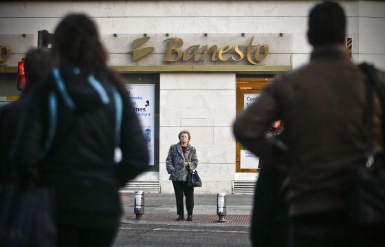 Oficina de Banesto en la calle Luchana de Madrid.
