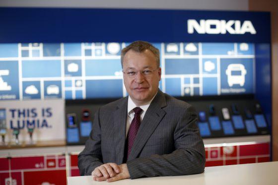 El consejero delegado de Nokia, Stephen Elop, en Madrid.