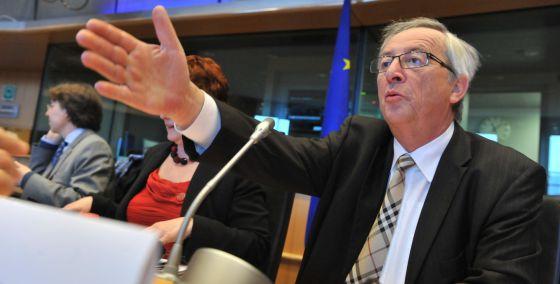 Juncker, durante su comparecencia en el Parlamento Europeo
