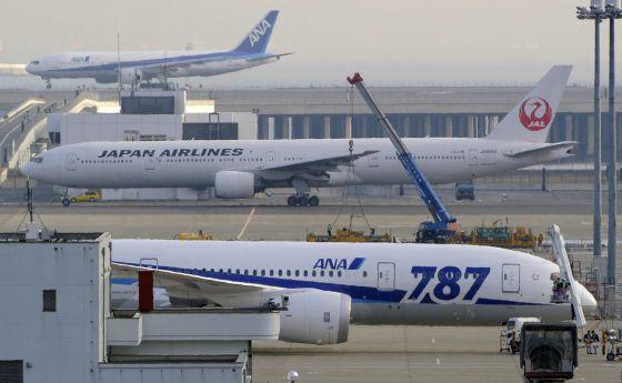 Un avión Boeing 787 'Dreamliner' de ANA en el aeropuerto Haneda, Japón.