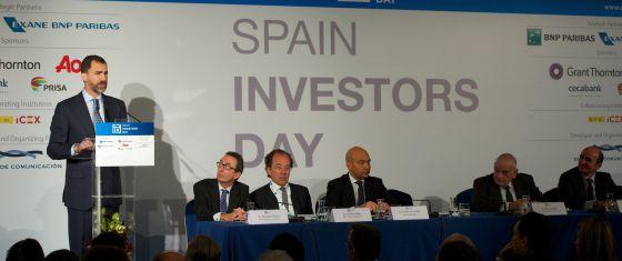 El Príncipe de Asturias, durante la inauguración del Spain Investors Day.