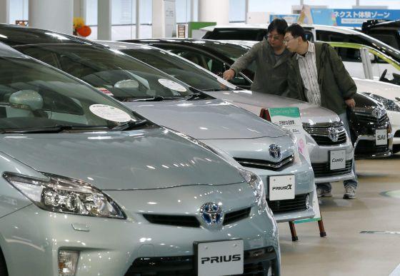 Un concesionario de Toyota en Tokio, Japón.