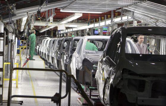 Cadena de montaje de General Motors en Figueruelas.