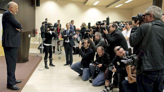 Roig, al inicio de la rueda de prensa sobre los resultados de Mercadona.