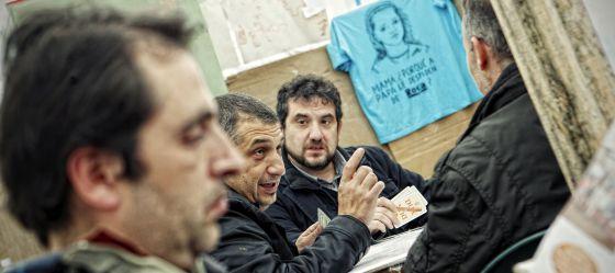 Campamento de trabajadores de Roca, en Alcalá de Henares.