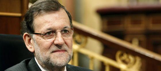 El presidente del Gobierno, Mariano Rajoy, en una sesión de control al Ejecutivo.