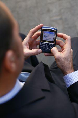 Un usuario de telefonía móvil.