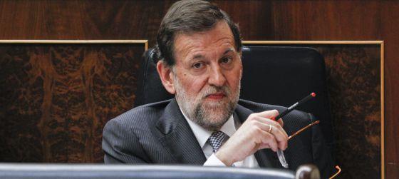 El presidente del Gobierno, Mariano Rajoy, durante el debate sobre el estado de la nación del pasado febrero.