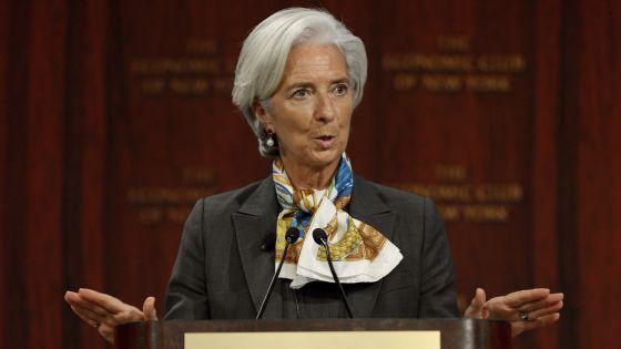 La directora del FMI, Christine Lagarde en Nueva York (EE UU)