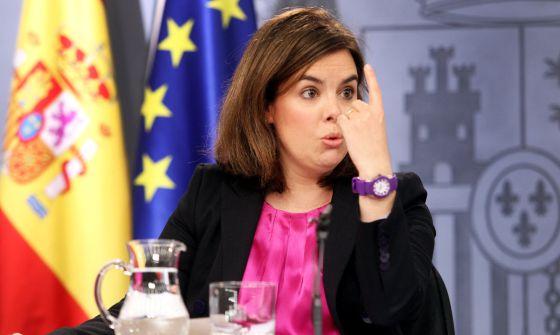 Soraya Sáenz de Santamaría, vicepresidente del Gobierno