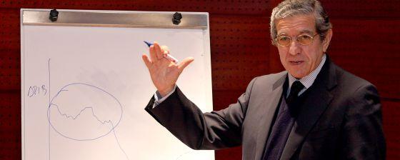Braulio Medel, presidente de Unicaja, en una reciente presentación.