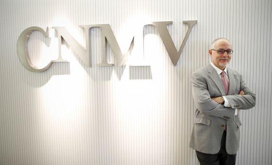 Pablo Gasós, en la sede de la CNMV en Madrid