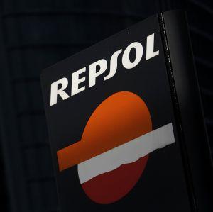 El logo de la compañía Repsol