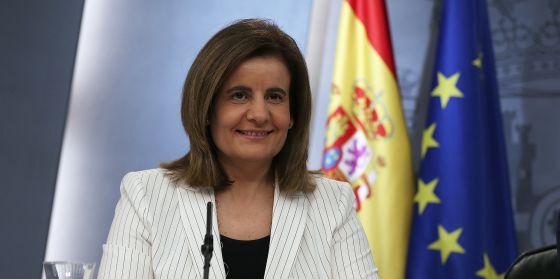 Fátima Báñez, el pasado viernes tras el Consejo de Ministros.