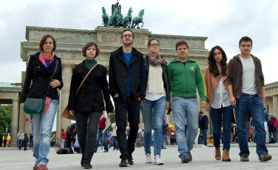 Algunos españoles que han decidido probar suerte en Alemania.