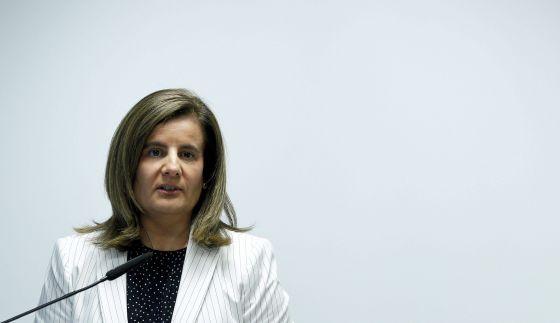 La ministra de Empleo, Fátima Báñez, en un acto en Madrid