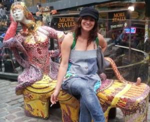 Cecilia García, en el mercadillo londinense de Camden Town.