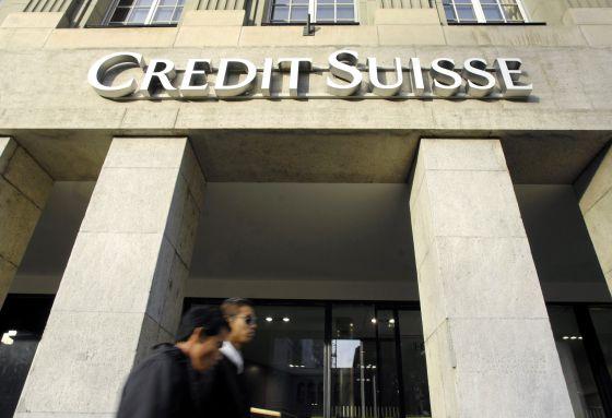 La sucursal de Credit Suisse en Biel Bienne, Suiza.