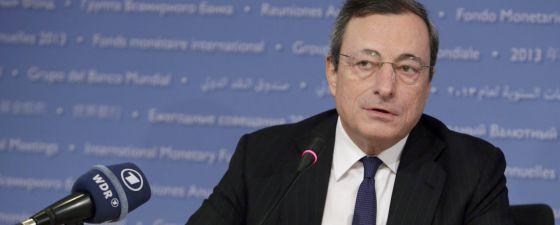 El presidente del Banco Central Europeo, Mario Draghi, en la última reunión mensual del consejo de la entidad.