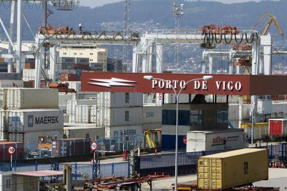 Vista general del puerto de Vigo.