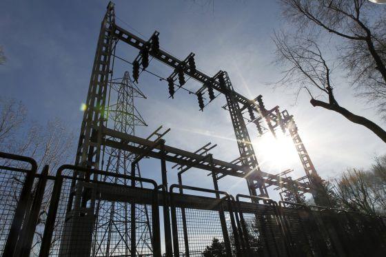 Una subestación eléctrica.