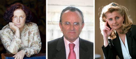 Ana Palacio, Hernández Mancha e Isabel Tocino.