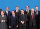 Galán, Alierta e Isla se reúnen con Merkel y Hollande