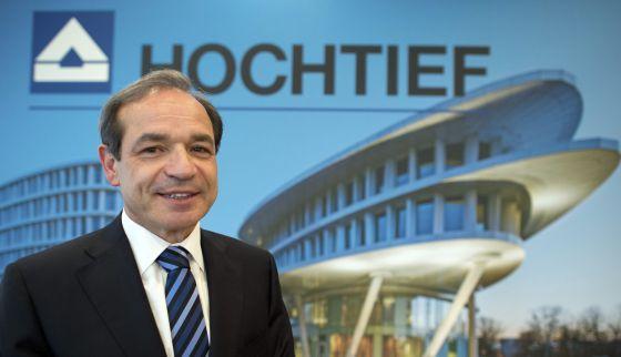 El presidente de la constructora Hochtief, Marcelino Fernández Verdes, el pasado febrero. rn rn