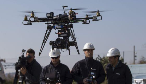 Presentación de 'drones' de Endesa.