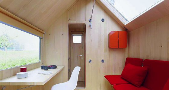 Interior de una tiny house