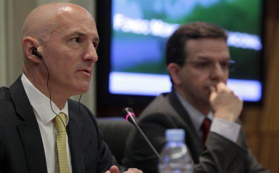 James Daniel, responsable de la misión para España del FMI, y Paulo Medas, economistas del organismo