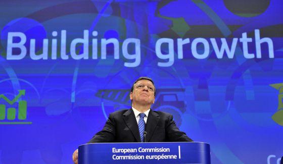 El presidente de la Comisión Europea, José Manuel Barroso, este lunes.