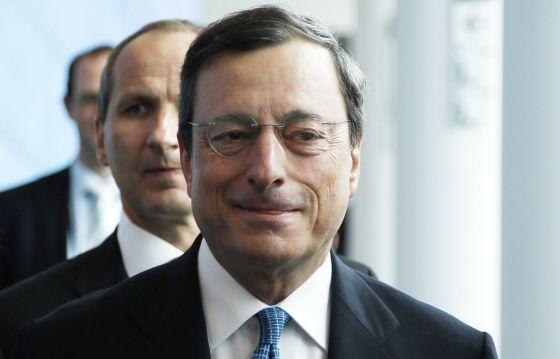 El presidente del BCE, Mario Draghi, en Bruselas.