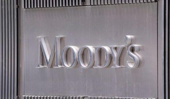 Llogo de Moody's en la fachada de su sede en Nueva York.