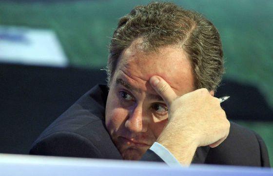 Demetrio Carceller, en una junta de accionistas.