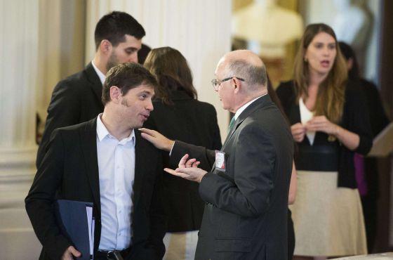 Axel Kicillof y Héctor Timerman durante la sesión de la OEA.
