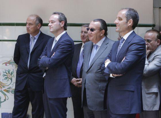 Alberto y Carlos Fabra, junto a Francisco Camps, en 2008.