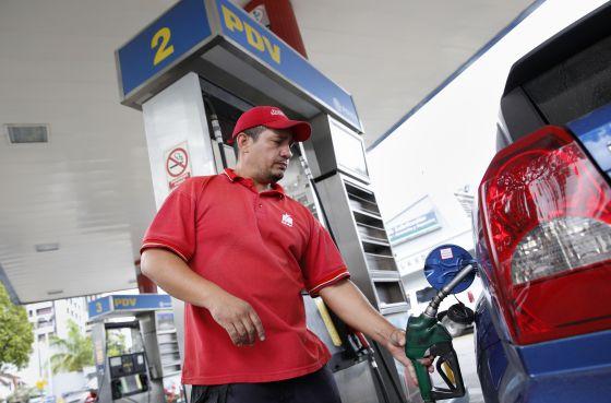 Una gasolinera de Pdvsa en Caracas