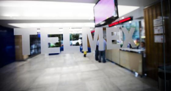 Una oficina de Telmex, propiedad de Carlos Slim.