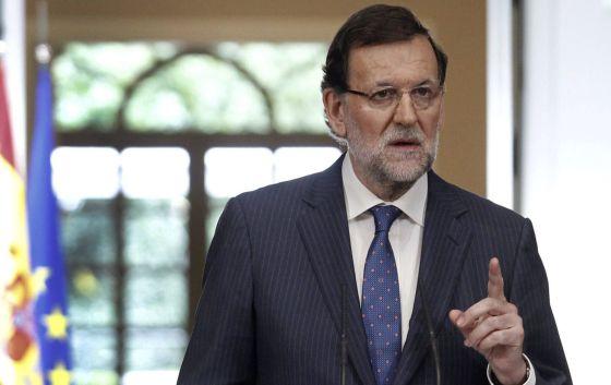 El presidente Mariano Rajoy, tras el Consejo de Ministros.