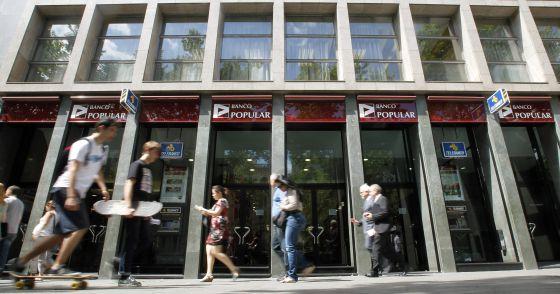 Oficinas del Banco Popular en Barcelona