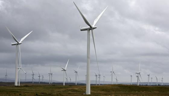 Imagen de un parque eólico de Iberdrola.