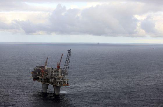 Plataforma de gas de Statoil, en el Mar del Norte.