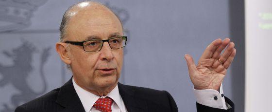 El ministro de Hacienda,Cristóbal Montoro.