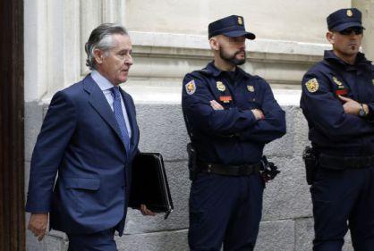 Blesa, a la salida del Tribunal Superior de Madrid.