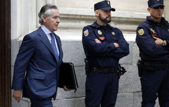 Miguel Blesa, a la salida del Tribunal Superior de Justicia de Madrid.