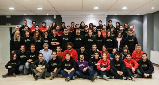 El equipo de la compañía Trovit en su sede de Barcelona.