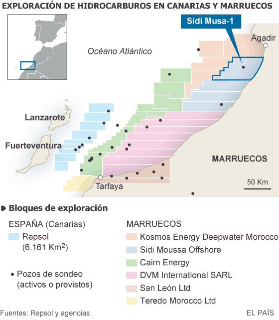 Marruecos confirma que localizó petróleo a 200 kilómetros de Canarias